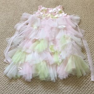 Biscotti little girl tulle dress with butterfly